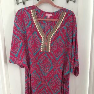 Lilly Pulitzer Dress/cover Up Embellished Small